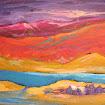 """Bright Imaginary Landscape"" Acrylic"
