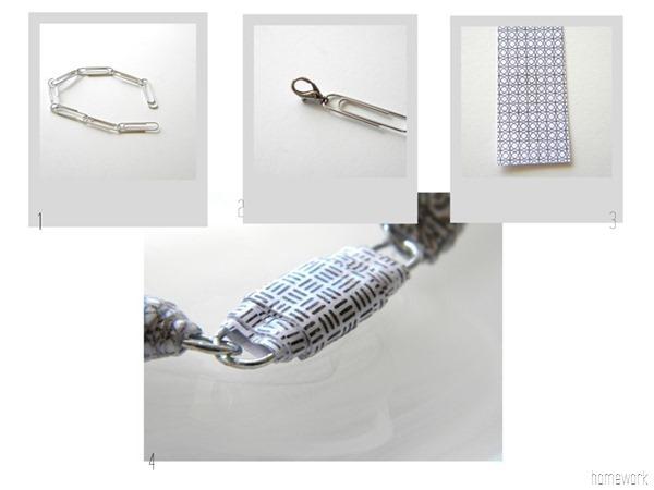 Paper Clip and Junk Mail Bracelet via homework | carolynshomework.com