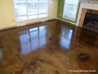 Brown stain in a family room