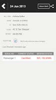 Screenshot of PNR Status Rail Flight Tracker