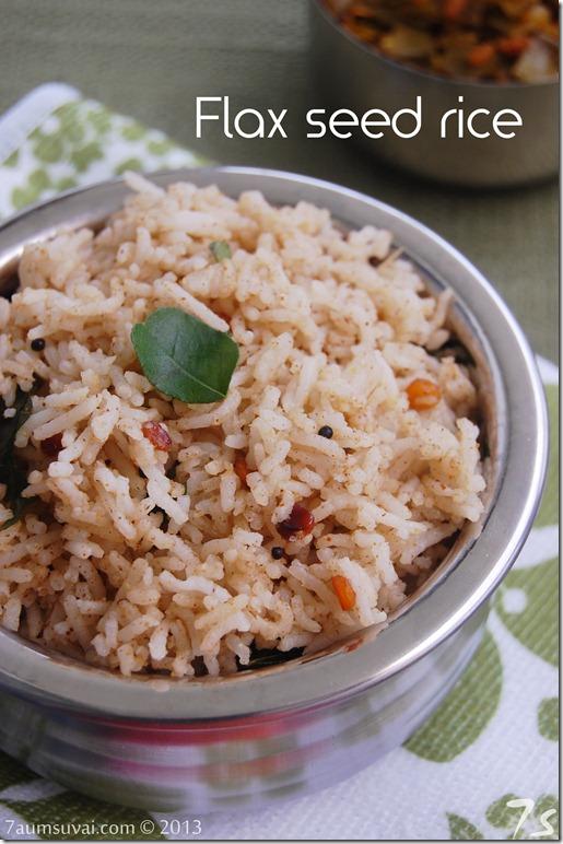 Flax seed rice