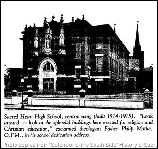 Sacred Heart Catholic High School , Indianapolis, Indiana.
