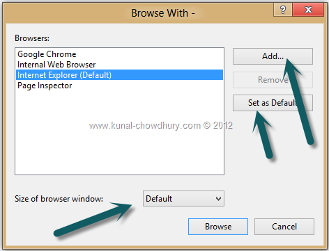 Default Browser Chooser Window