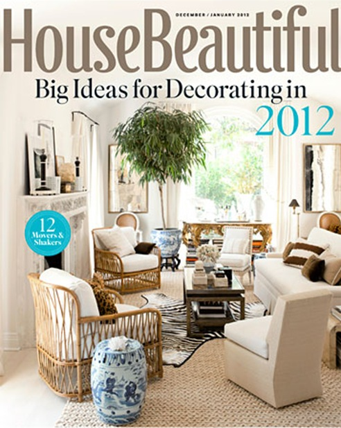 house beautiful cover december-january 2012
