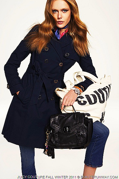 JUICY COUTURE Fall Winter 2011 Trench Coat and bag