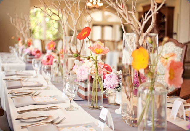 Southern-weddings-poppy-centerpieces shea hopely flowers
