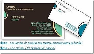 tarjetas de presentacion gratis para imprimir varios diseños
