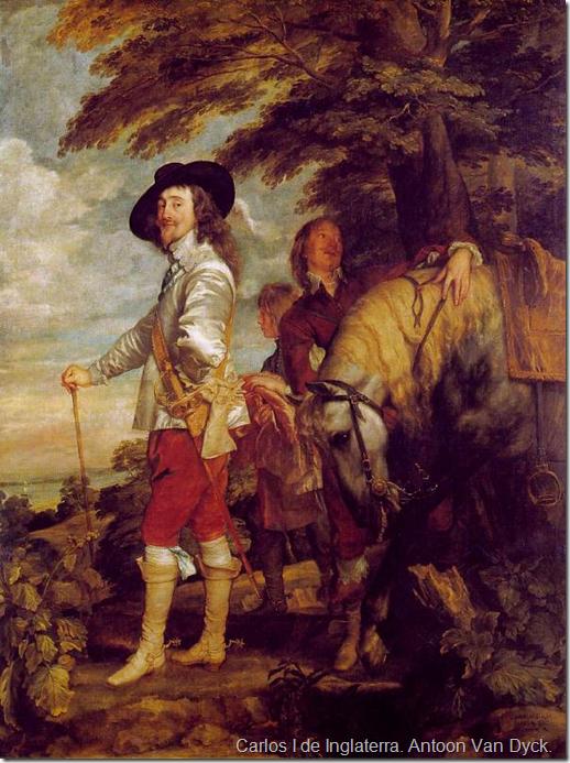 Carlos I de Inglaterra. Antoon Van Dyck.