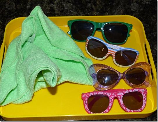 Polishing Sunglasses