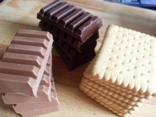 Kiks og chokolade