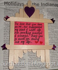 Popsicle sticks or Ice cream sticks Frame  (8)