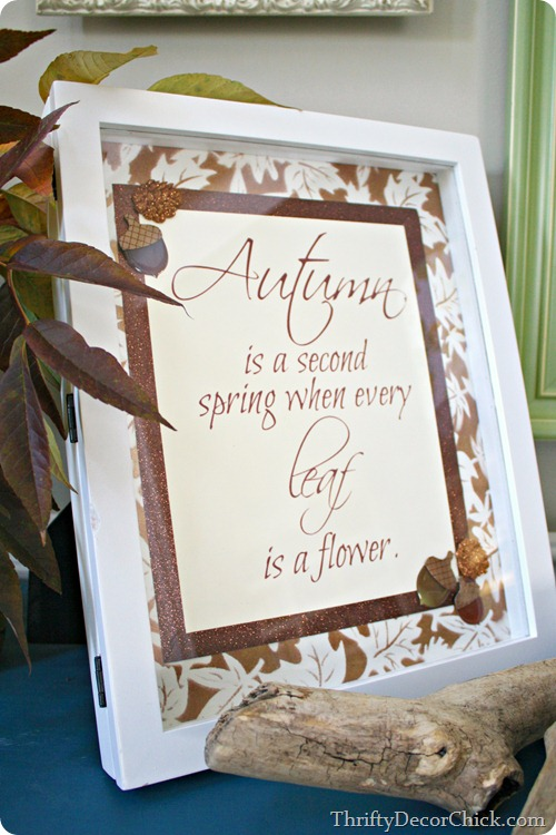 fall printable second spring