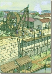 Construction de la première enceinte de Paris (JC.Golvin)