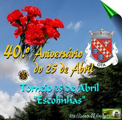 Comem. 40.º Aniv. 25 Abril (FCO)