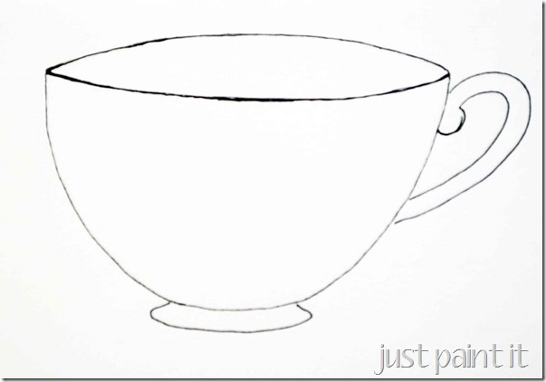 "Sketching A ""Simple"" Teacup - Just Paint It Blog"