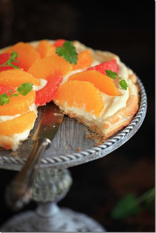 Ciasto francuskie z mascarpone i cytrusami (7)