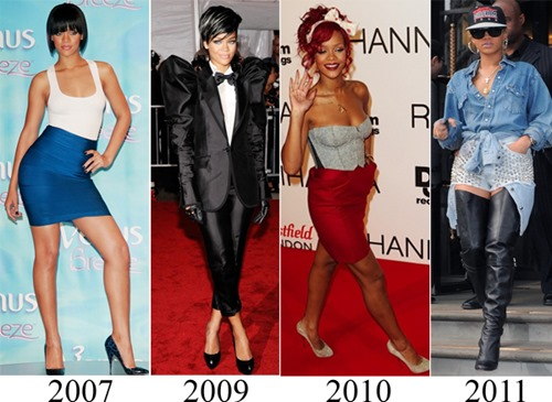 rihanna fashion transition