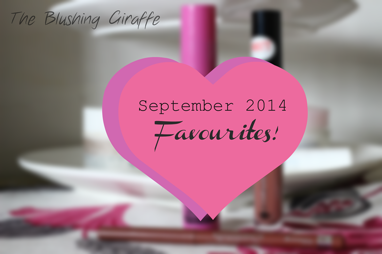 speteber beauty favourites the blushing giraffe