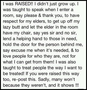 raised