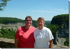Gin and Syl at Letchworth State Park NY