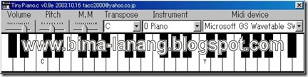 TinyPiano v0.8e