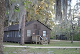 Ranger Station with Spanish Moss