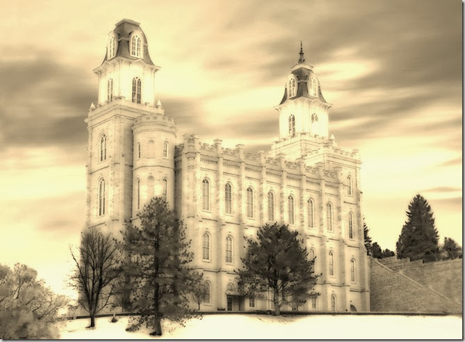 Manti-Temple--Winter