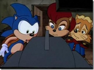 Sonic, Princesa Sally e Antoine em Sonic the Hedgehog