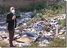 Luca Abete visita l'ex campo Rom di Poggioreale