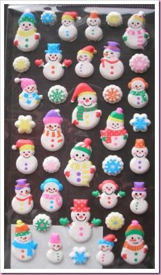 Accessorize Chrostmas Snowman Stickers