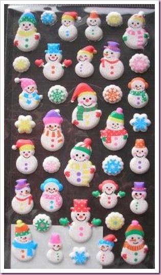 Accessorize Chrostmas Snowman Stickers