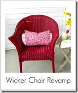 repainted wicker chair