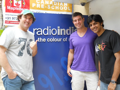 Kenny, Sriram and Jeff outside Radio Indigo