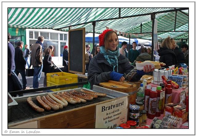 Lunch at Broadway Market in London Fields