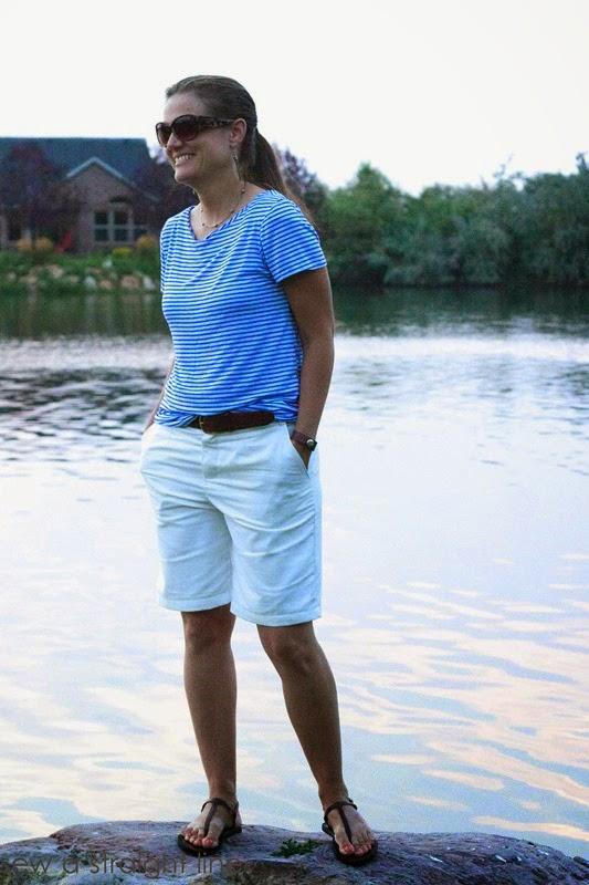 burda shorts shoreline tee sew a straight line-13