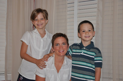 Natalie, Shelley, and Eli; 1st day of school - 2009