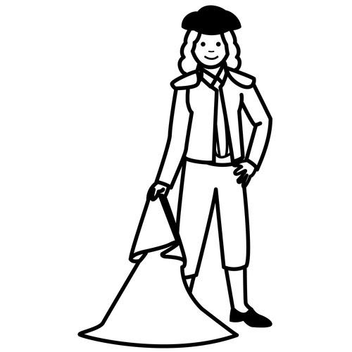 dibujo torero: