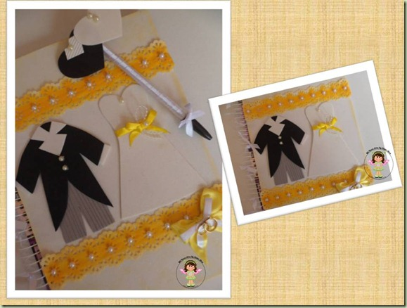 Cadernode Casamento Decorado Amarelo