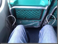 Cramped legroom