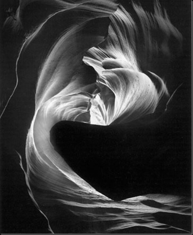 Circular Chimney, Antelope Canyon, 1980