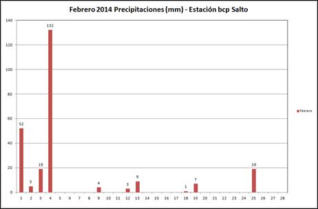 Precipitaciones (Febrero 2014)