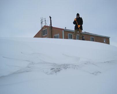 15 foot snowdrift
