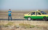 Tianshan - Chauffeur de taxi attend