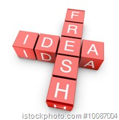 Fresh idea crossword