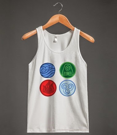 Avatar The Last Airbender Elements Tank Top by Tui&La via Skreened