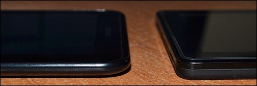 Samsung Galaxy Tab2 Kindle Fire edges