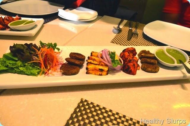 Vegetarian starter platter