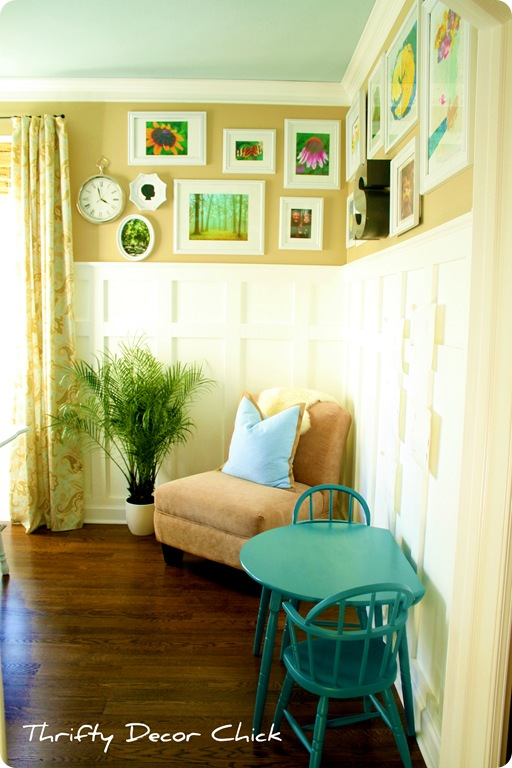 gallery wall white frames