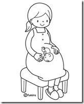 embarazo colorear 2