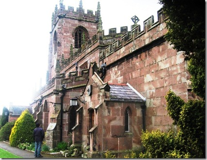 the  back of Marbury church